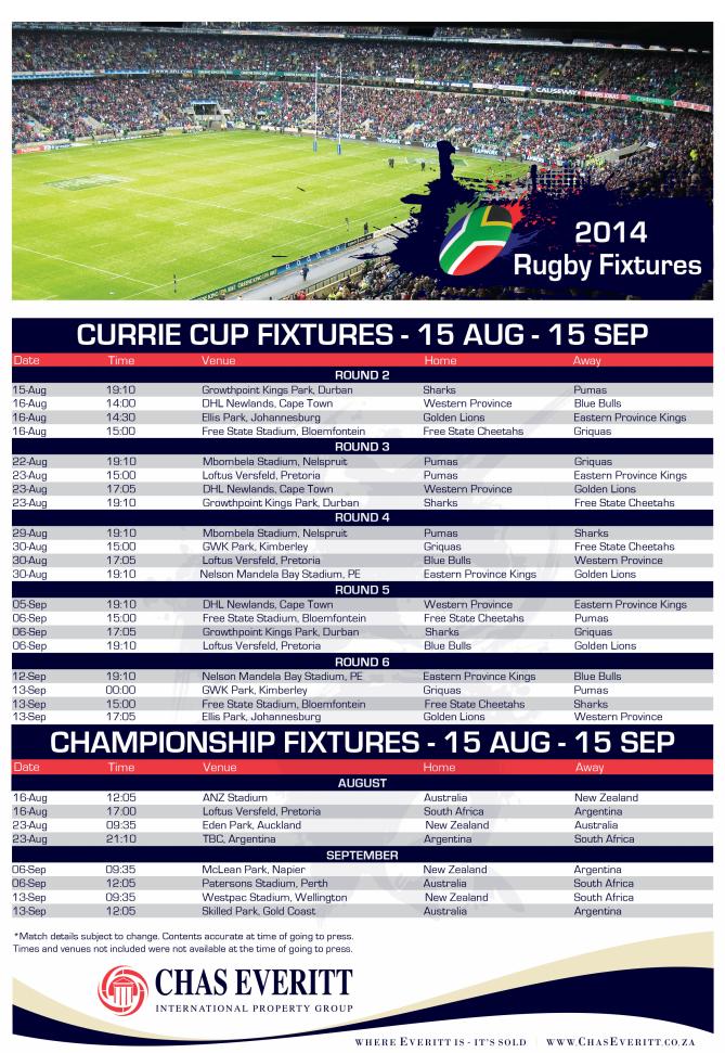 Rugby Fixtures